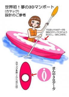 The kayak that is offending Japanese sensibilities.