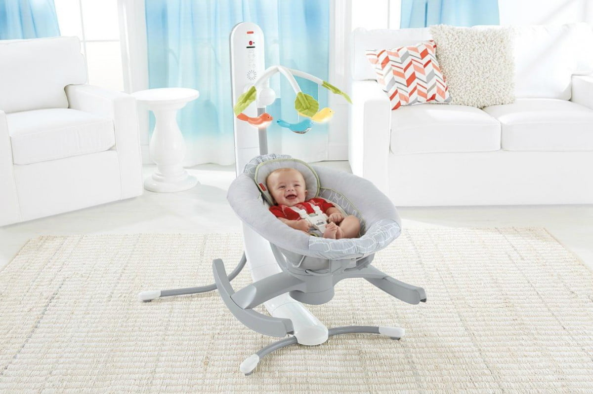 control the  in smart connect cradle n swing with a smartphone baby rocker and