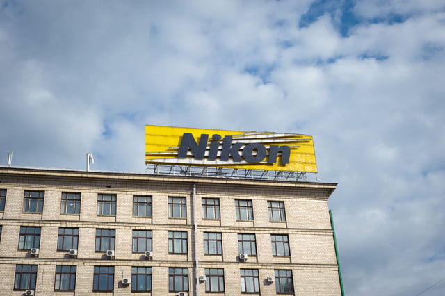 mikon a  release delayed earthquake damage kyiv ukraine may nikon office centre in