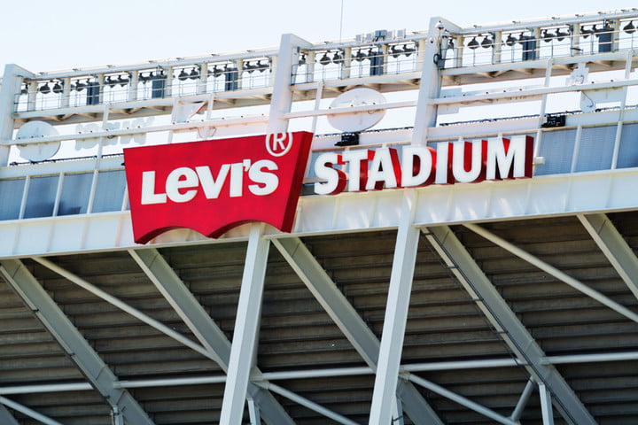 The San Francisco 49ers now play at Levi's Stadium in Santa Clara, California. Perhaps one of the reasons for rising house prices in the area?