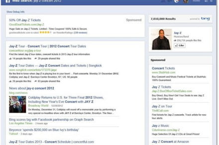 facebook bing graph search