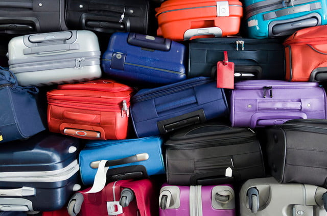 netherlands kpn lora internet of things  suitcases multicolor stacked for transport one above the other