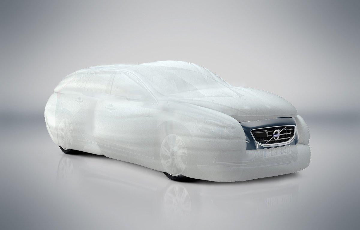 attack of the stay puft marshmallow man external airbags coming to side a car near you volvo airbag