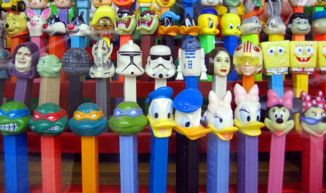 pez candy movie dispensers
