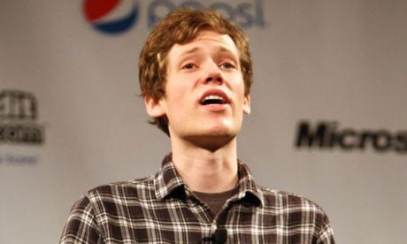 chans christopher poole delivers a keynote speech at the sxsw festival