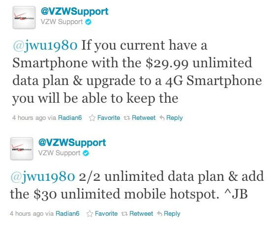 Verizon 3g to 4g data plans