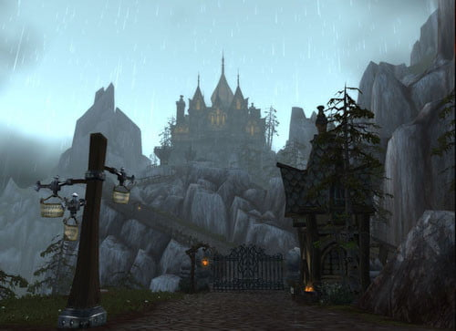 blizzard reveals world of warcraft cataclysm  castle screenshot