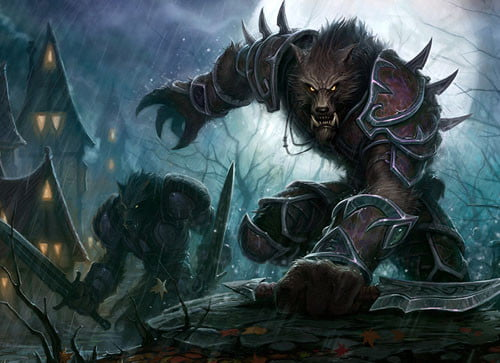blizzard reveals world of warcraft cataclysm worgen concept art from  catacysm