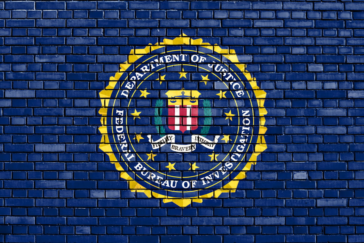 feds facial recognition database over  million flag of fbi painted on brick wall