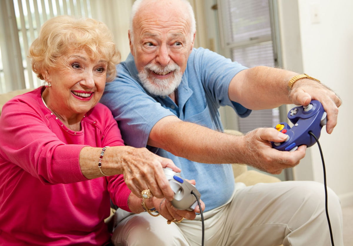 video game anniversaries  old people playing games