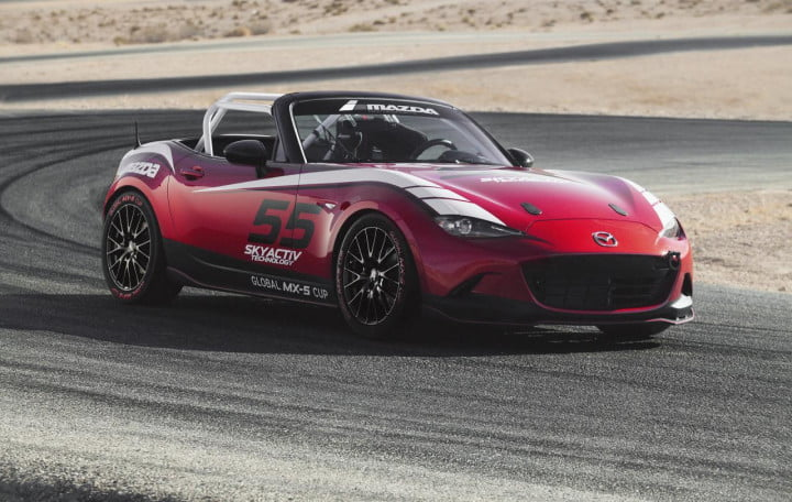 mazda mx  cup racer prototype pictures news