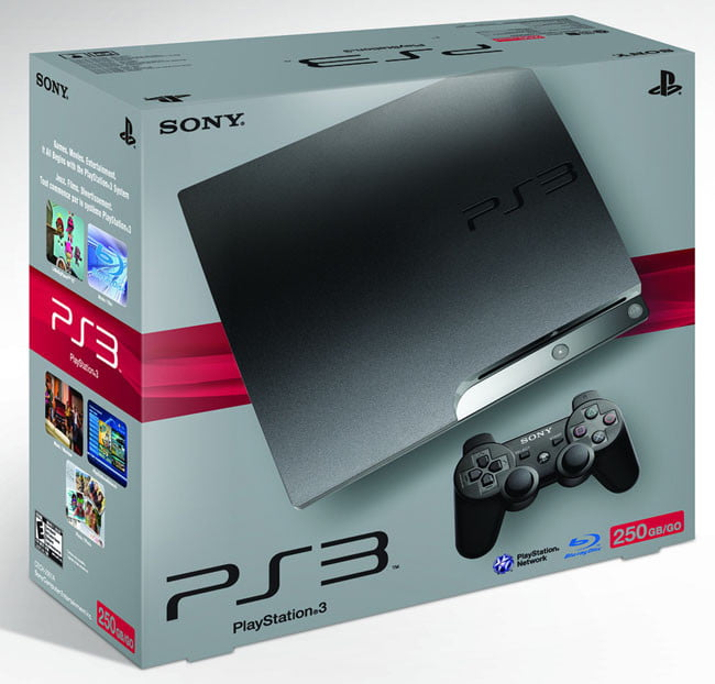 Sony PS3 Slim 250 GB retail box