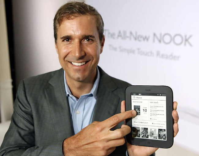 Barnes & Noble Nook Simple Touch eReader (CEO William Lynch)