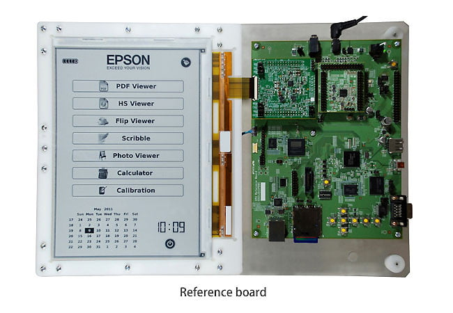 E Ink Epson high-res ereader reference board