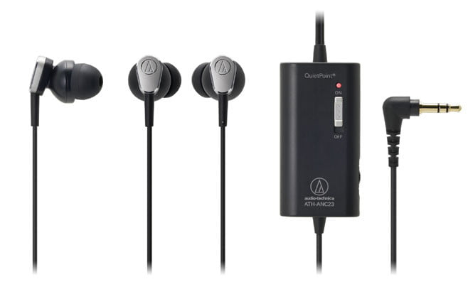 Audio-Technica ATH-ANC23 QuietPoint active noise-canceling earbuds