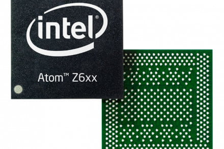 Intel Atom Z6xx (front and back)