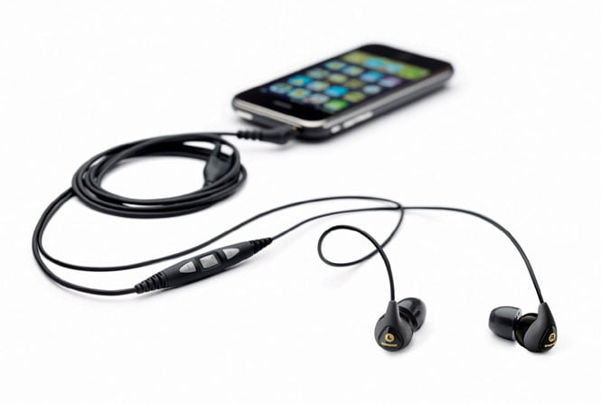 Shure SE115m+ headset with iPhone