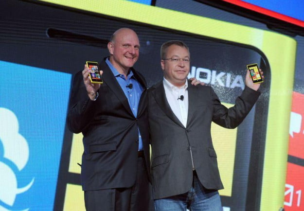 Stephen Elop and Steve Ballmer Nokia Lumia 920