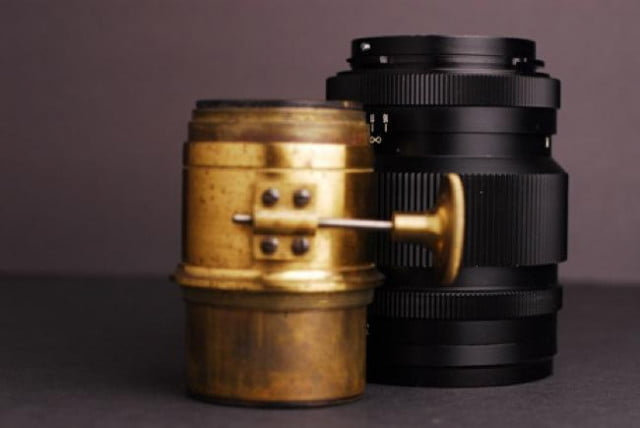 petzval old  th century fast aperture lens thats suddenly new dc f a fb large