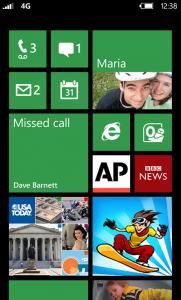 Windows Phone 7.8/8 home screen live tiles