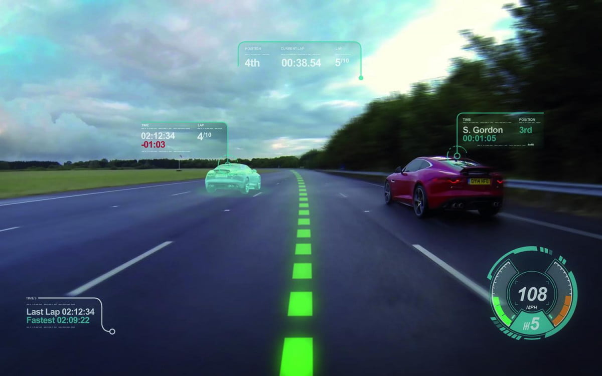 jaguars virtual windscreen turns real life into a video game jaguar
