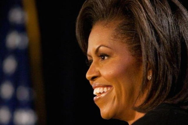 michelle obama stephen colbert guest  px speaks at the arts center in fayetteville nc