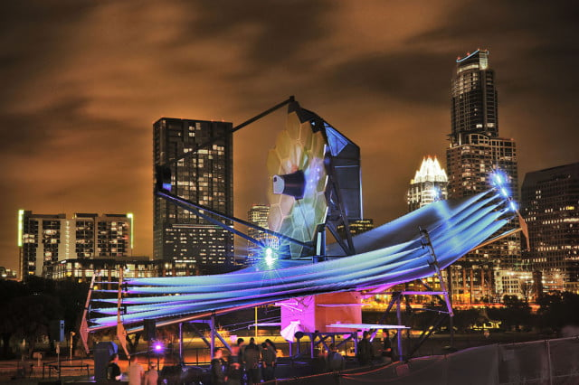 Full-scale model of the James Webb Space Telescope at SXSW