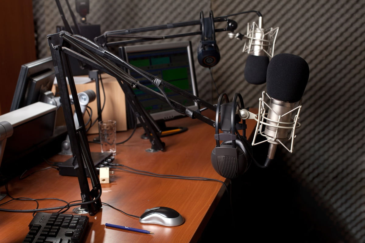 how to make a podcast  preparing the news broadcast
