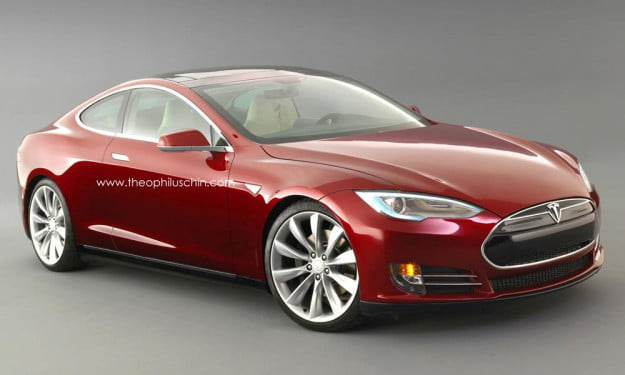 Tesla Model S coupe front three quarter