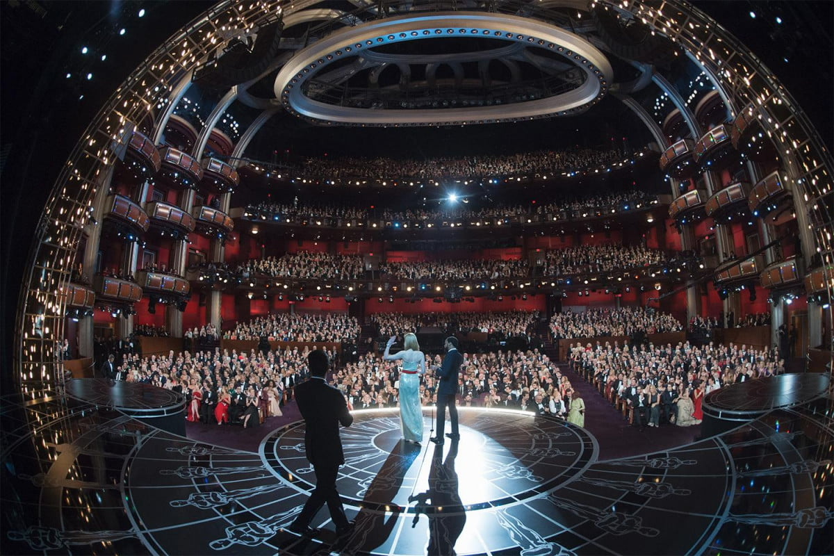 birdman and the grand budapest hotel win big at  th oscars ceremony academy awards stage