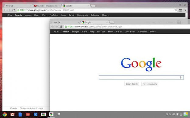 Google Chrome OS Aura desktop