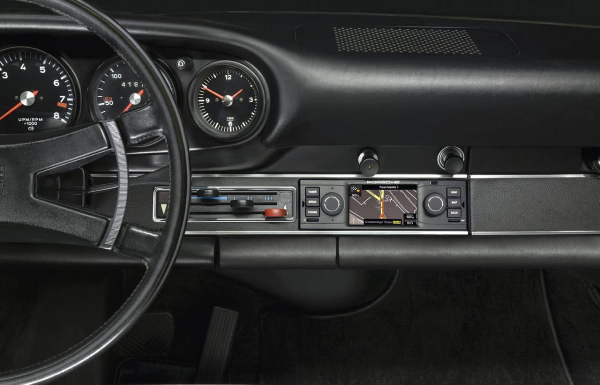 porsche navigation radio for classic sports cars