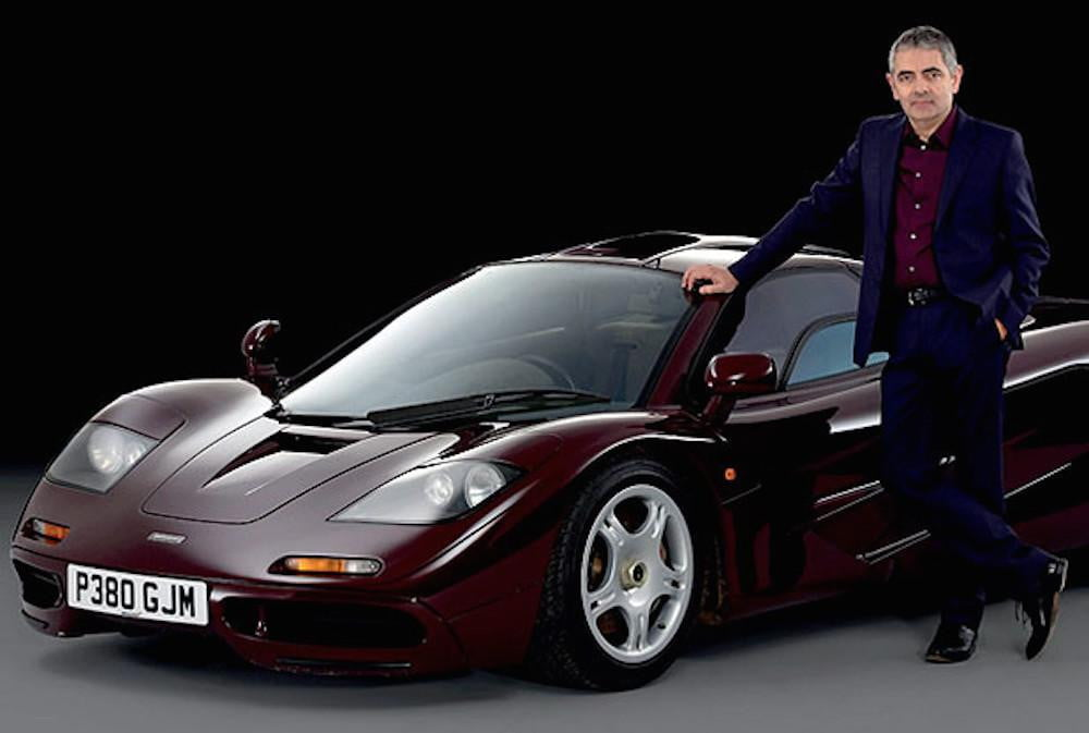 British actor Rowan Atkinson selling his twice-crashed McLaren F1 for ...