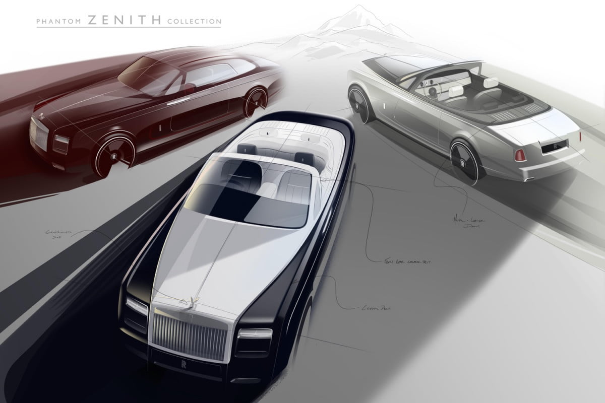 rolls royce discontinues phantom coupe convertible zenith collection