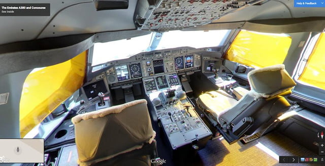 street view board the a  cockpit