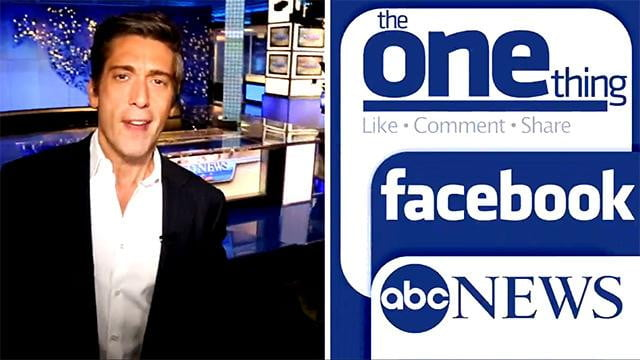 abc hits facebook with its own daily newscast news one thing