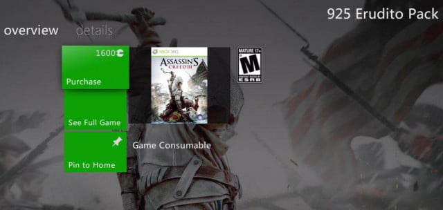 Assassin's Creed III microtransactions