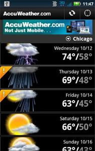 accuweather screenshot kindle fire app