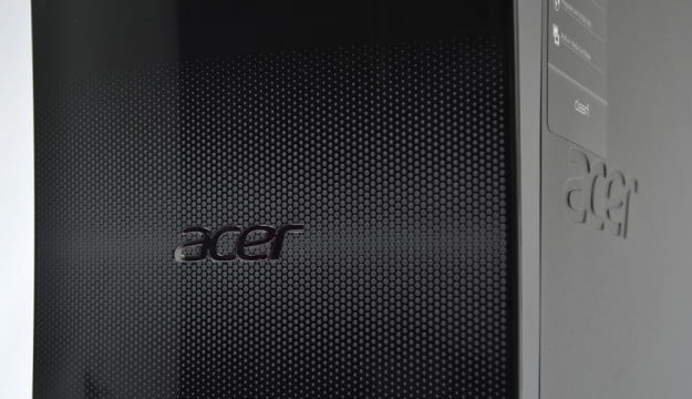 Acer Aspire M3985 Review front details desktop tower pc