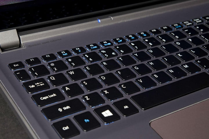 acer aspire m  p review keyboard angle