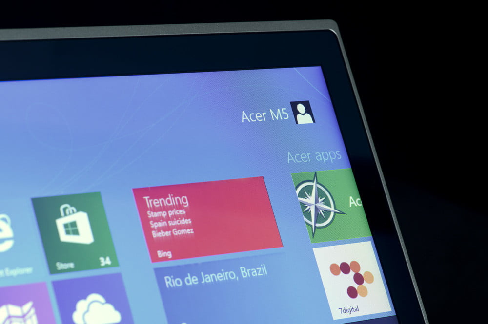 Acer Aspire M5 Touch Review display
