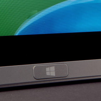 Acer Aspire P3 review start button