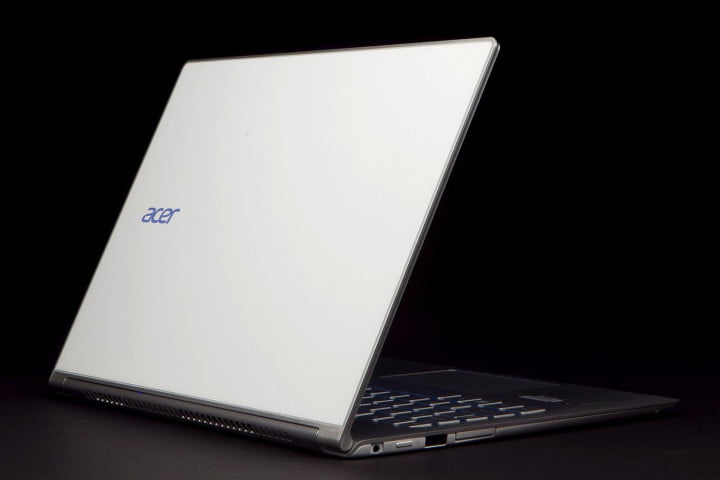 acer aspire s  review back left angle