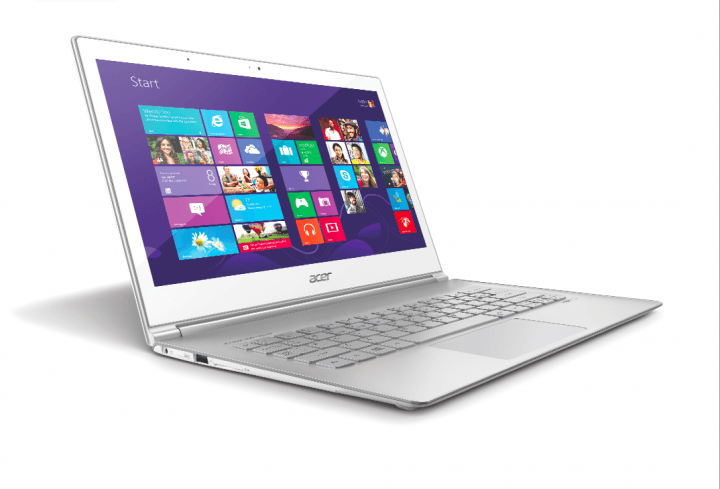 acer updates aspire s  ultrabooks with next gen processors touchscreens left