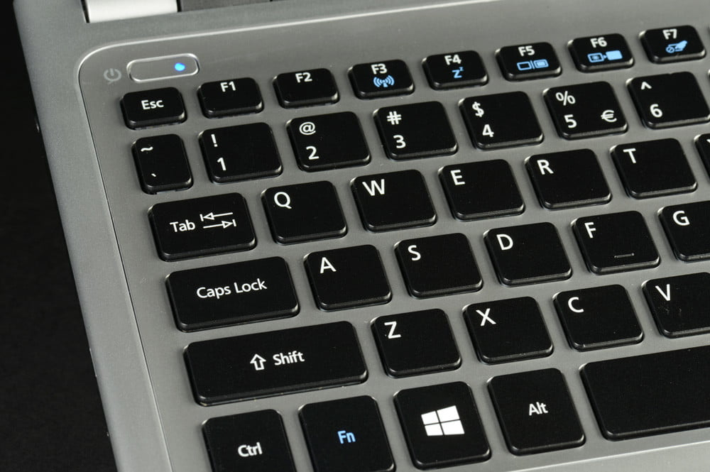 Acer Aspire V5 Touch Review keyboard