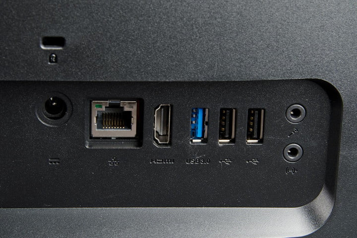 acer aspire z  review series aio back ports