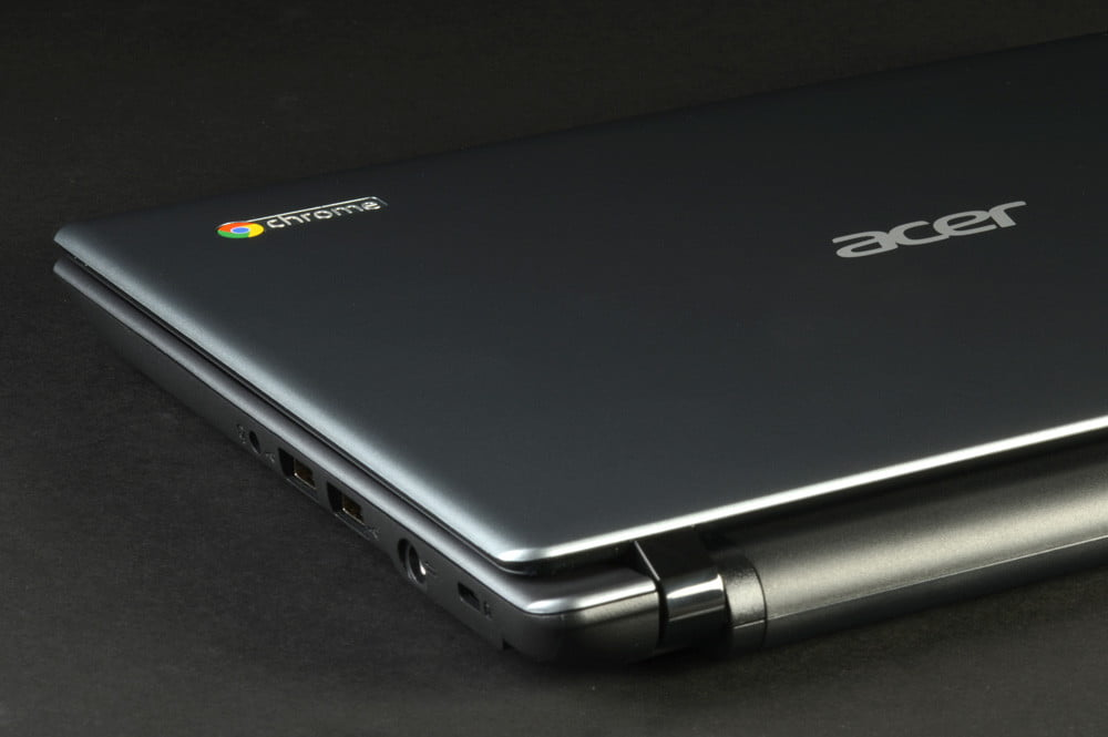 Acer C7 Chromebook Review rear lid angle