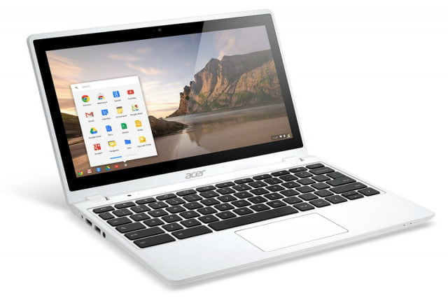 acer reveals new  c p chromebook early january release date white touch right angle