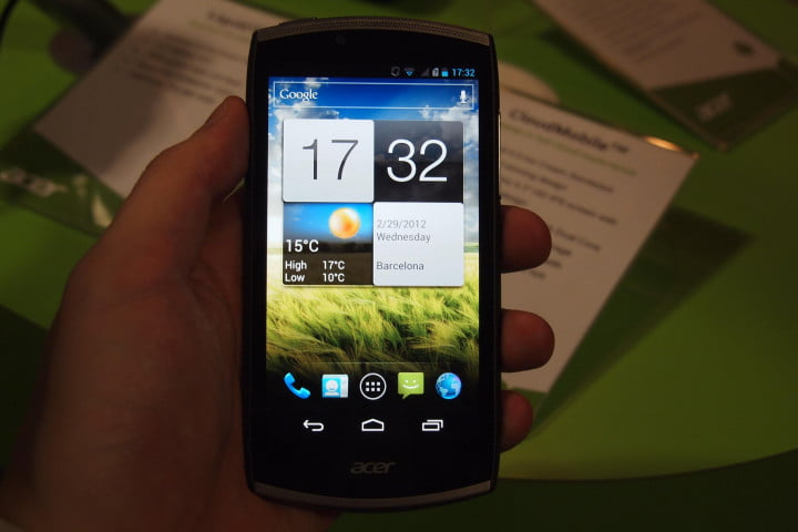 acer cloudmobile hands on video ventures into high end smartphones  ( )