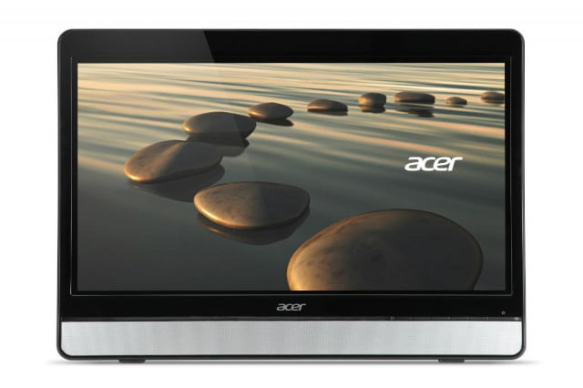 acer intros  inch hd led touch monitor just time holidays ft hql straight on